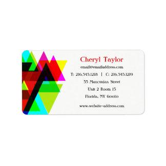 Modern Geometric Professional Photographer Label