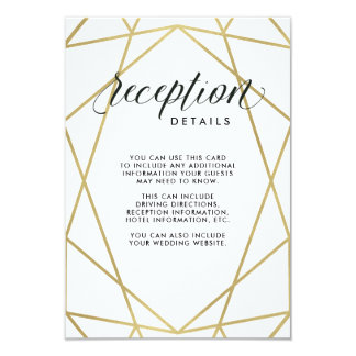 Modern Geometric Reception Details Card