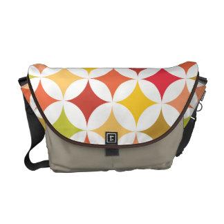 Modern Geometric Retro Earth Tones II Messenger Bags