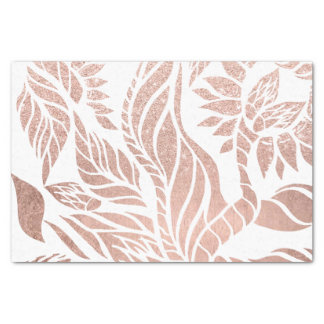 Modern geometric rose gold botanical hand drawn tissue paper