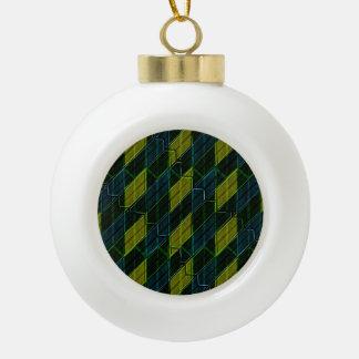 Modern Geometric Seamless Pattern Ceramic Ball Ornament