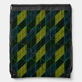Modern Geometric Seamless Pattern Drawstring Bag