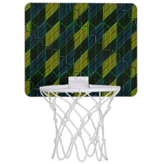 Modern Geometric Seamless Pattern Mini Basketball Hoop