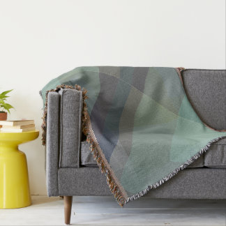 Modern Geometric sofa throw blanket, block design