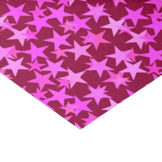 Modern Geometric Stars, Burgundy Wine and Pink Tissue Paper