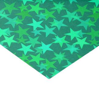 Modern Geometric Stars, Emerald and Mint Green Tissue Paper