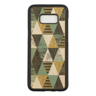 Modern Geometric Textured Triangles Pattern Carved Samsung Galaxy S8+ Case