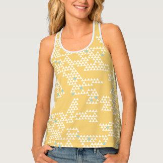 Modern Geometric Triangle - Yellow - Women's Tank Tank Top