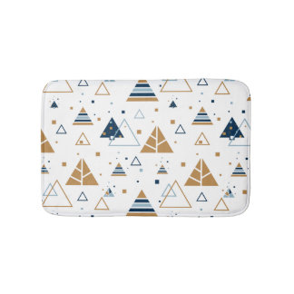 Modern Geometric Triangles Pattern 2 Bath Mat