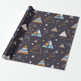 Modern Geometric Triangles Pattern 5 Wrapping Paper