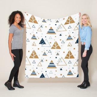 Modern Geometric Triangles Pattern Fleece Blanket