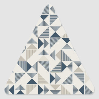 modern geometric triangles stickers