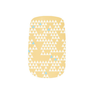 Modern Geometric Triangles - Yellow - Nail Art