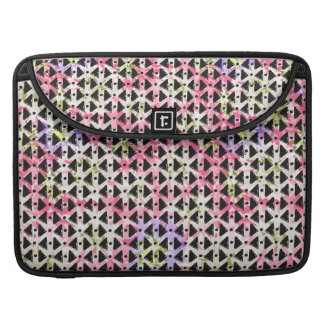 Modern geometric weave pink mauve green black sleeve for MacBook pro
