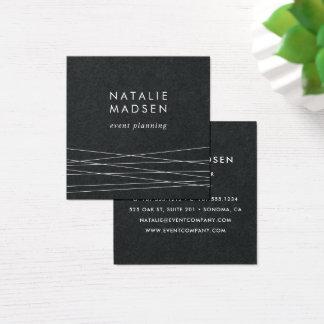 Modern Geometry | Black Square Business Card