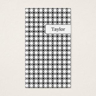 Modern Geometry Business Cards - Black