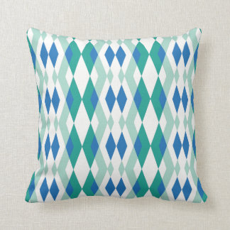 Modern geometry pastel green blue steel throw pillow