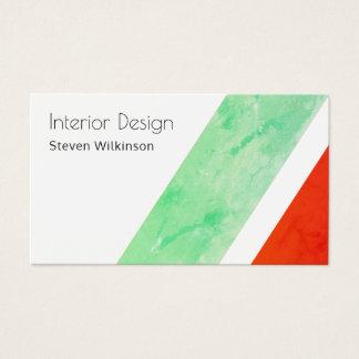 Modern giant stripe diagonal shape business card