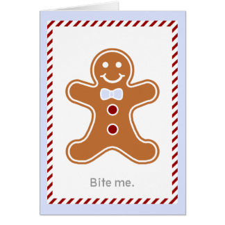 Modern Gingerbread Man Holiday Card