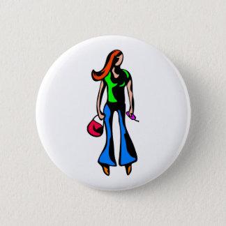 Modern Girl 2 Inch Round Button