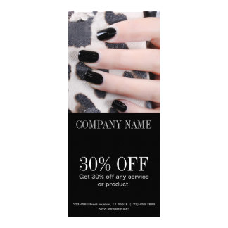 modern girly beauty fashion nail salon nail artist rack card design