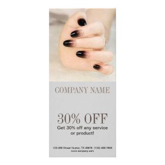 modern girly beauty ombre nail artist nail salon full colour rack card