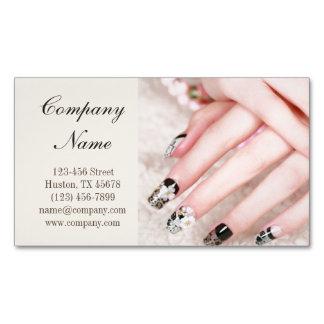 modern girly beauty salon lace nail artist Magnetic business card