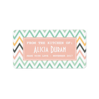 Modern Girly Chevron Personalized Homemade Product Label