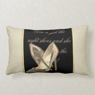 Modern Girly Cute, Heels-Motivational Message Lumbar Pillow