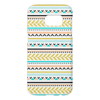Modern & Girly Geometric Aztec Inspired Pattern Samsung Galaxy S7 Case