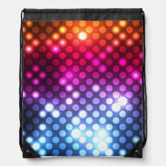 Modern Girly Glitter Lights Drawstring Backpack
