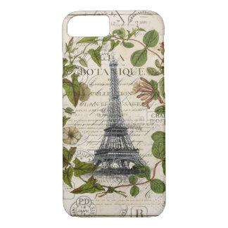 modern girly ivy leaves wreath paris eiffel tower iPhone 8/7 case