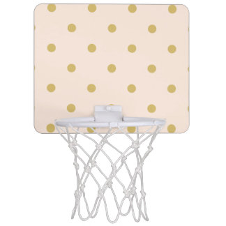 Modern Girly Pink and Gold Polka Dots Pattern Mini Basketball Hoop