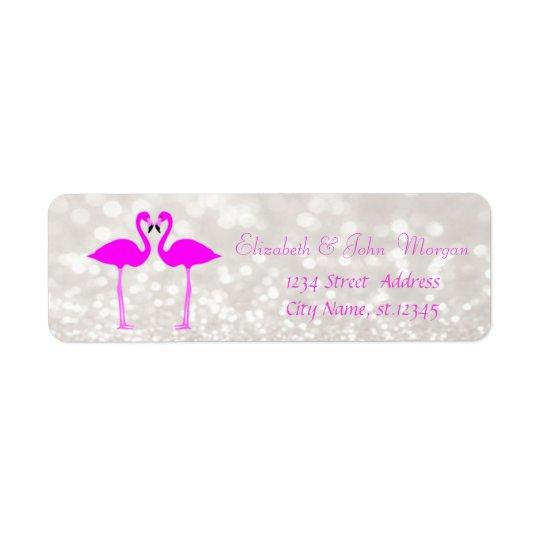 Modern Girly Stylish Glittery Bokeh,Pink Flamingos