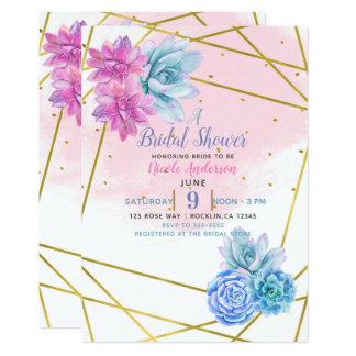 Modern Glam Southwest Fiesta Floral Succulents Card