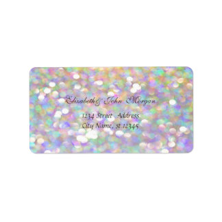 Modern Glamorous  Stylish Colorful,Bokeh Label