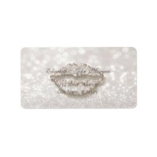 Modern Glamorous  Stylish Glittery Bokeh,Lips Label