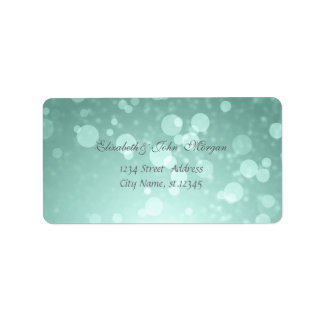 Modern Glamorous  Stylish Mint Greenl,Bokeh Label