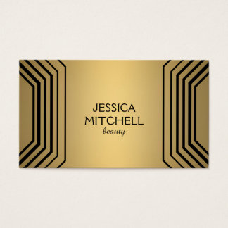 Modern Glamour in Gold Beauty, Makeup, Boutique Business Card