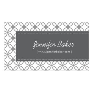 Modern Glamour Pattern for Designer/Boutique/Salon Pack Of Standard Business Cards