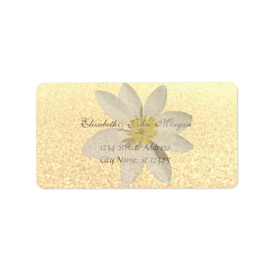 Modern Glamourous Chic Faux Gold  Glittery,Daisy Label