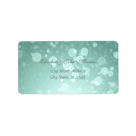 Modern Glamourous  Stylish Mint Greenl,Bokeh Label