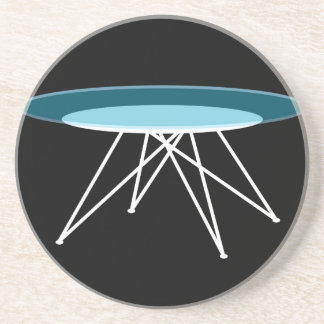 Modern glass coffee table beverage coaster