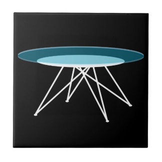 Modern glass coffee table ceramic tiles