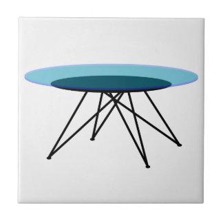 Modern glass coffee table ceramic tiles