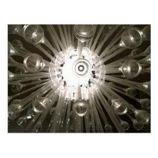 Modern Glass Pipe Chandelier Postcard