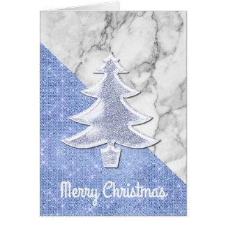 Modern Glittery Christmas Tree Christmas Card