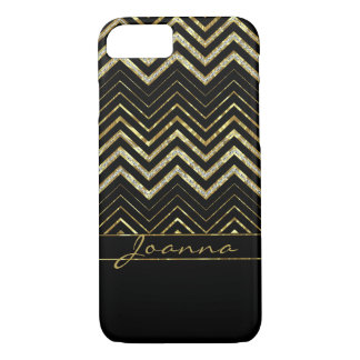 Modern Gold And Diamonds Chevron iPhone 8/7 Case