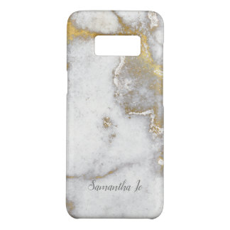 Modern Gold and Gray Marble Samsung Case