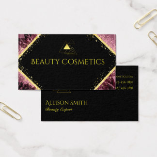 Modern Gold and Purple Business Card